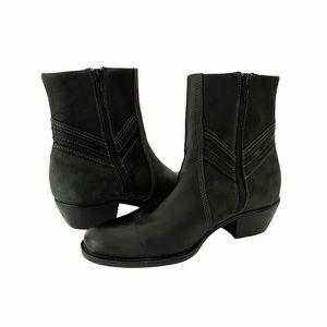Clarks Artisan Brown Side Zip Leather Booties